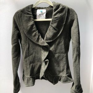 Anthropologie Sparrow boiled wool sweater jacket
